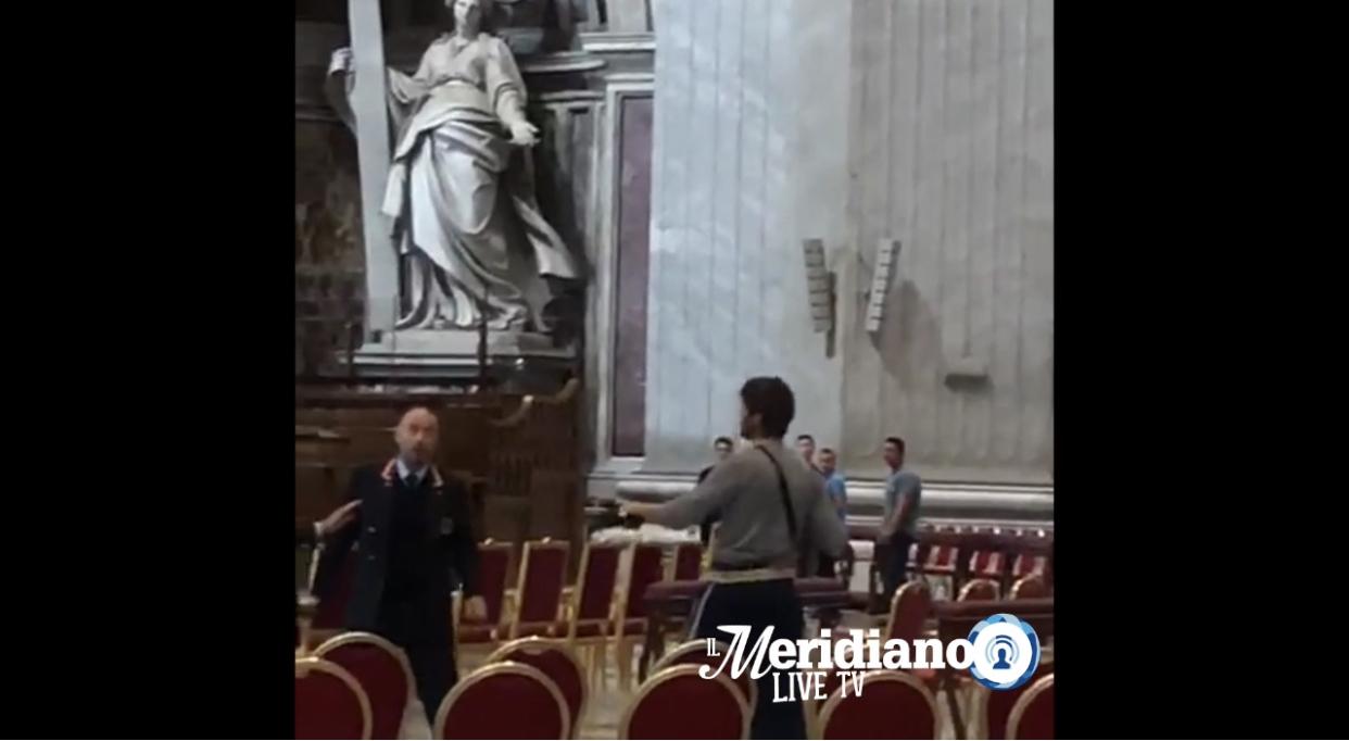 Terrore in Vaticano, squilibrato minaccia tutti nella basilica di San Pietro •